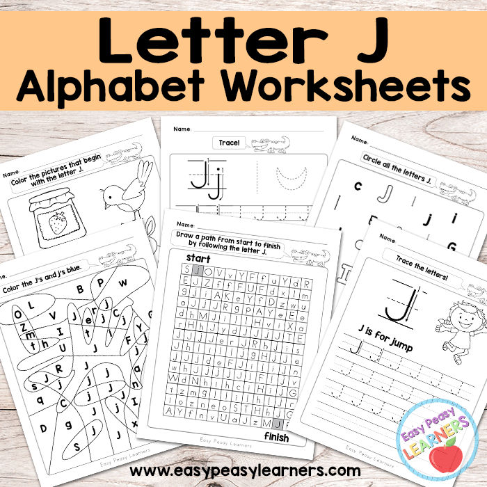 Alphabet Worksheets Letter J