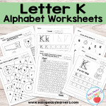Letter K Worksheets – Alphabet Series