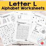 Letter L Worksheets – Alphabet Series