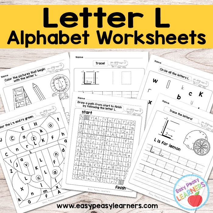 Alphabet Worksheets - Letter L
