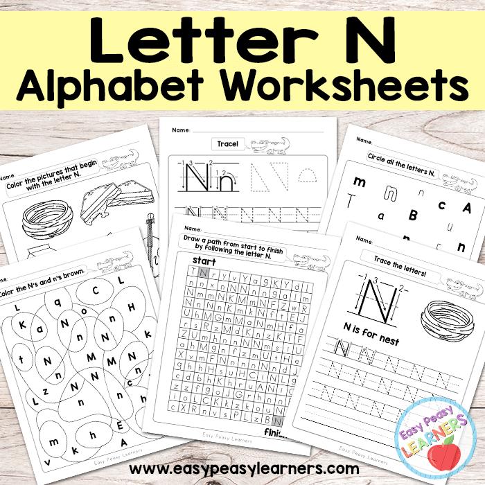 Alphabet Worksheets - Letter N