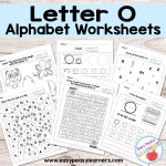 Letter O Worksheets – Alphabet Series