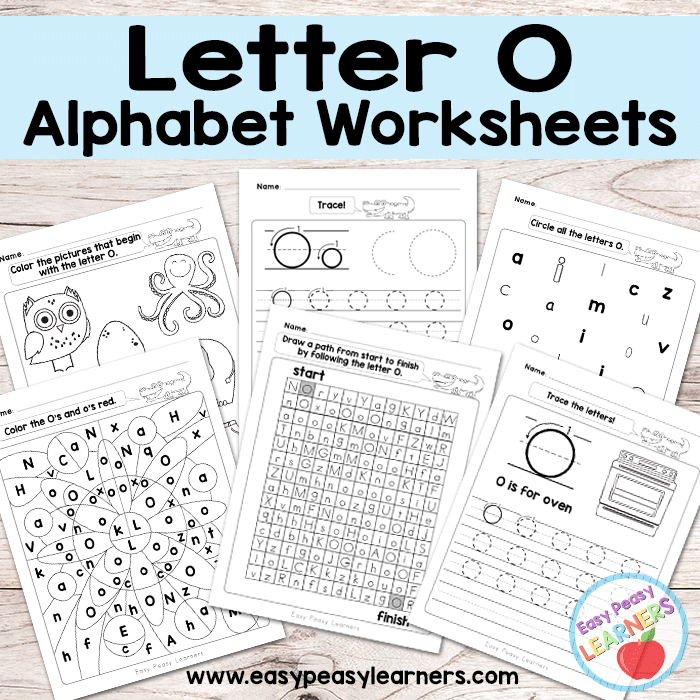 Alphabet Worksheets - Letter O