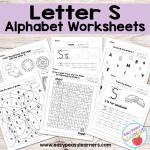 Letter S Worksheets – Alphabet Series