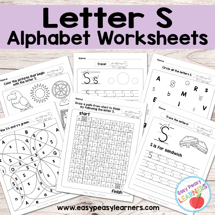 Alphabet Worksheets - Letter S