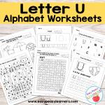 Letter U Worksheets – Alphabet Series