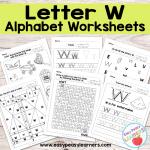 Letter W Worksheets – Alphabet Series