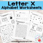 Letter X Worksheets – Alphabet Series