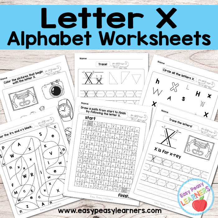 Alphabet Worksheets - Letter X