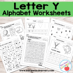 Letter Y Worksheets – Alphabet Series