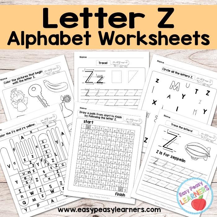 Alphabet Worksheets - Letter Z