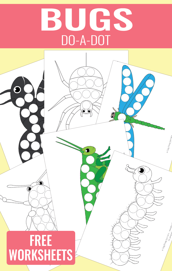 Bugs Do a Dot Printables for Kids