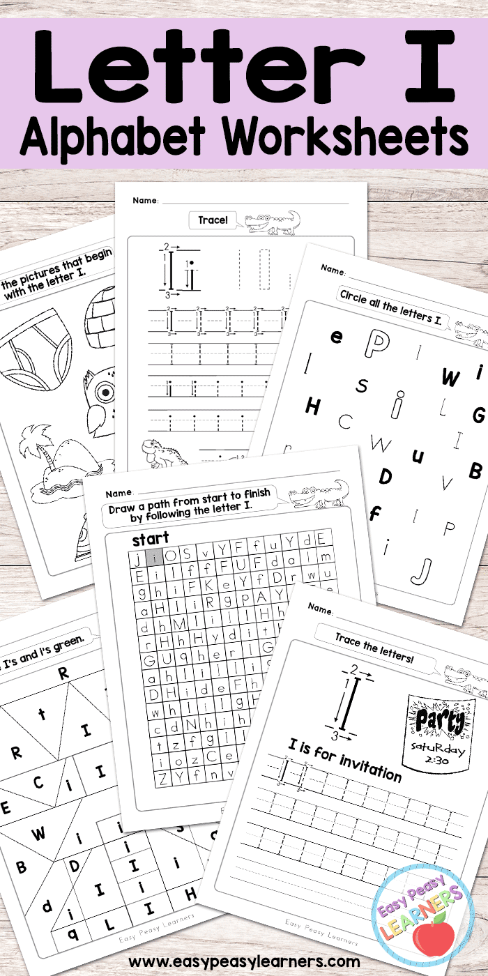 photo about Letter Printables referred to as Letter I Worksheets - Alphabet Collection - Uncomplicated Peasy Students