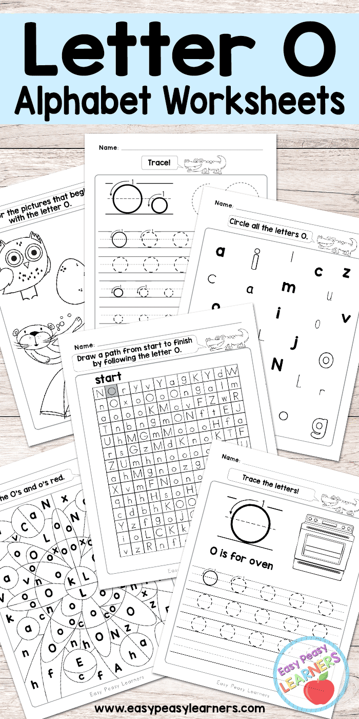 photograph regarding O Printable known as Letter O Worksheets - Alphabet Collection - Straightforward Peasy Students