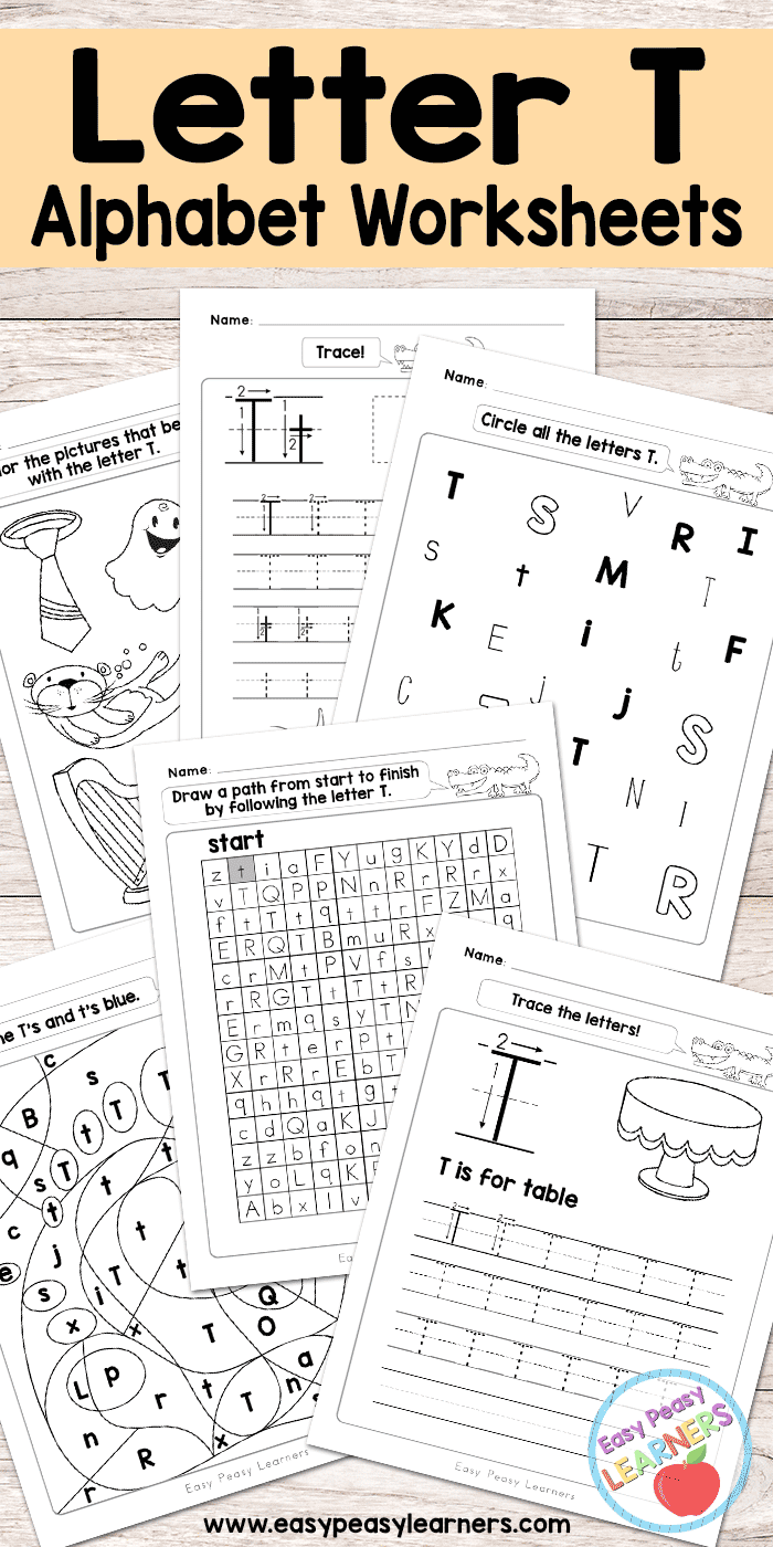 Free Printable Letter T Worksheets - Alphabet Worksheets Series