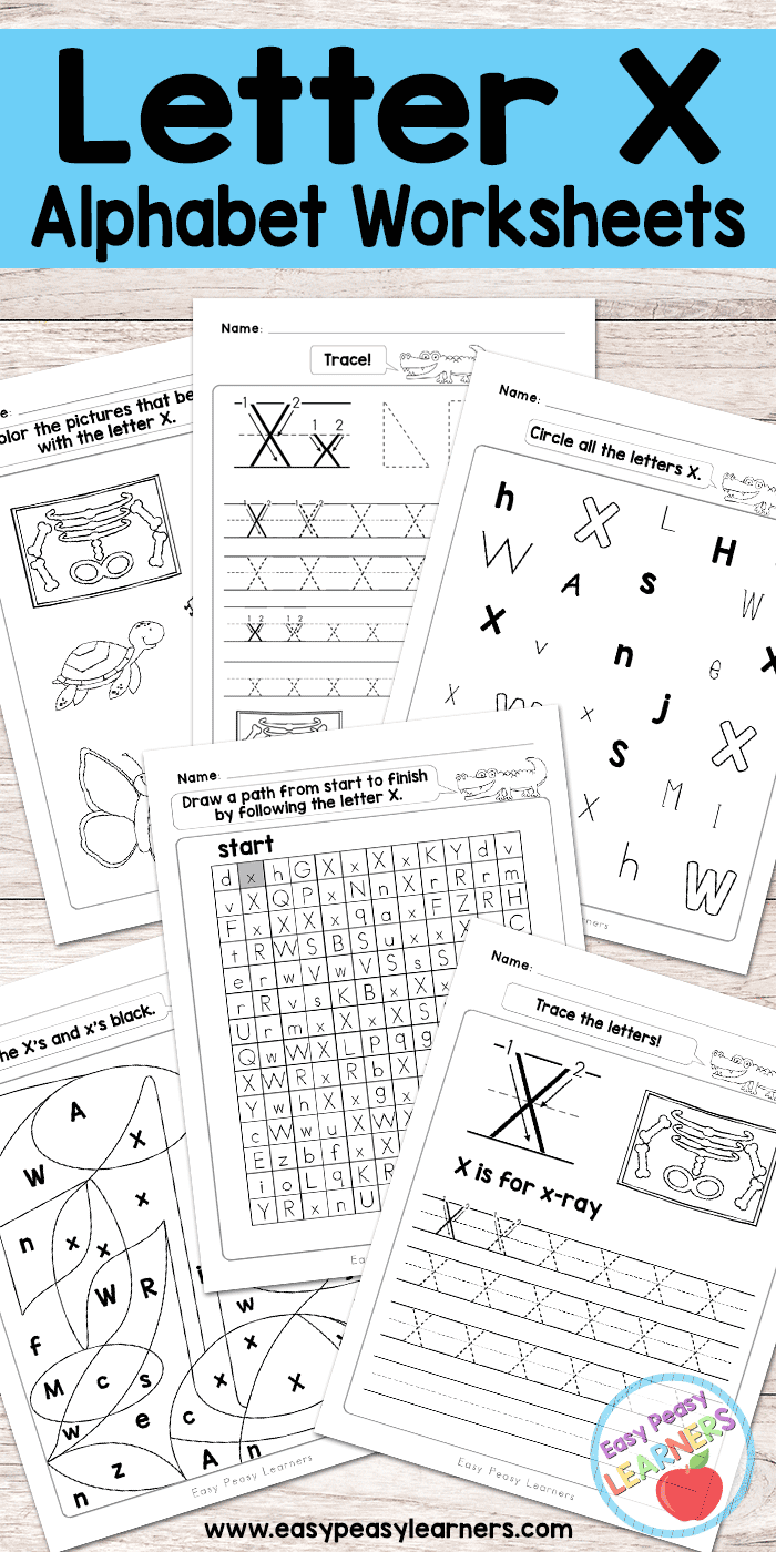 Workbooks letter u worksheets for kindergarten : Letter X Worksheets - Alphabet Series - Easy Peasy Learners