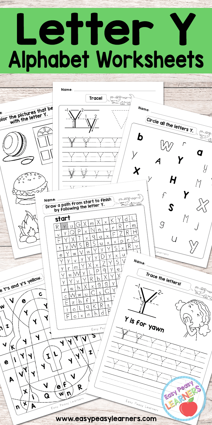 Letter Y Worksheets  Alphabet Series  Easy Peasy Learners