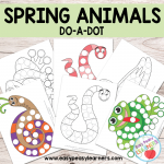 Free Spring Animals Do a Dot Printables