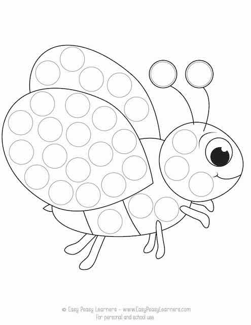 Spring Do A Dot Printables Easy Peasy Learners