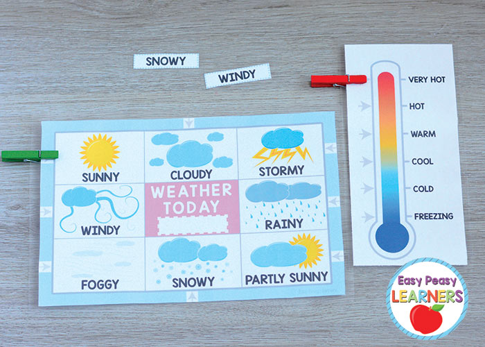 graphic about Weather Chart Printable named Printable Weather conditions Charts - Simple Peasy College students