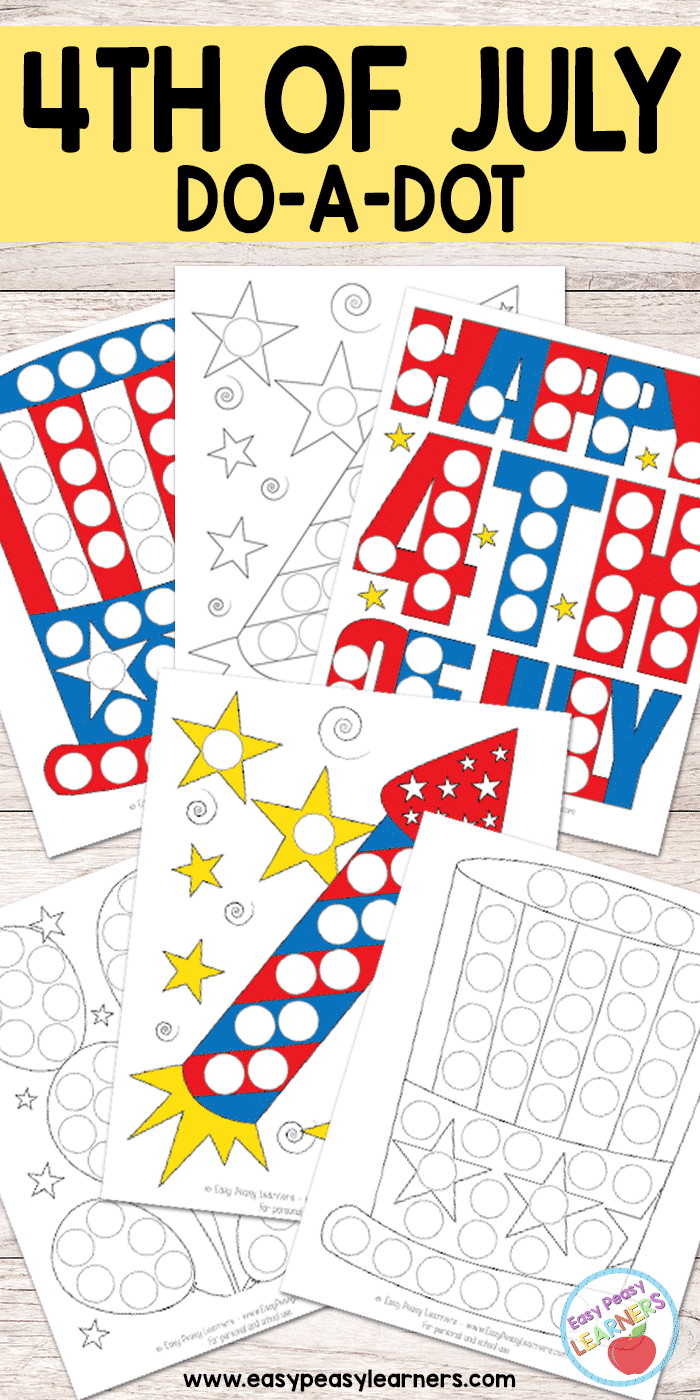 4th of July - Do a Dot Printables