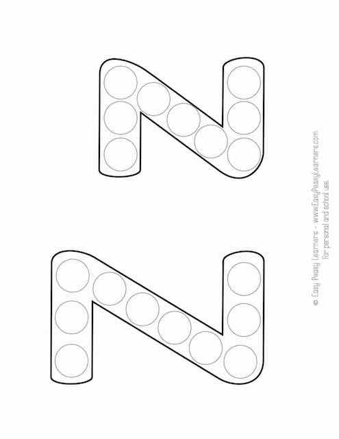 Free Alphabet Do A Dot Printables Easy Peasy Learners