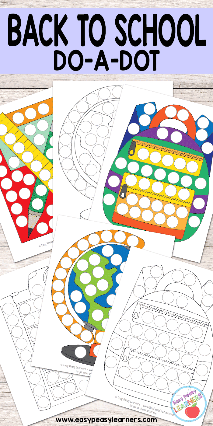 Back to School - Do a Dot Printables