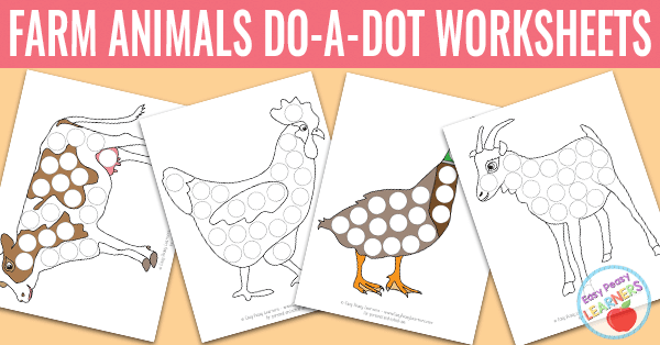 Free Farm Animals Do A Dot Printables