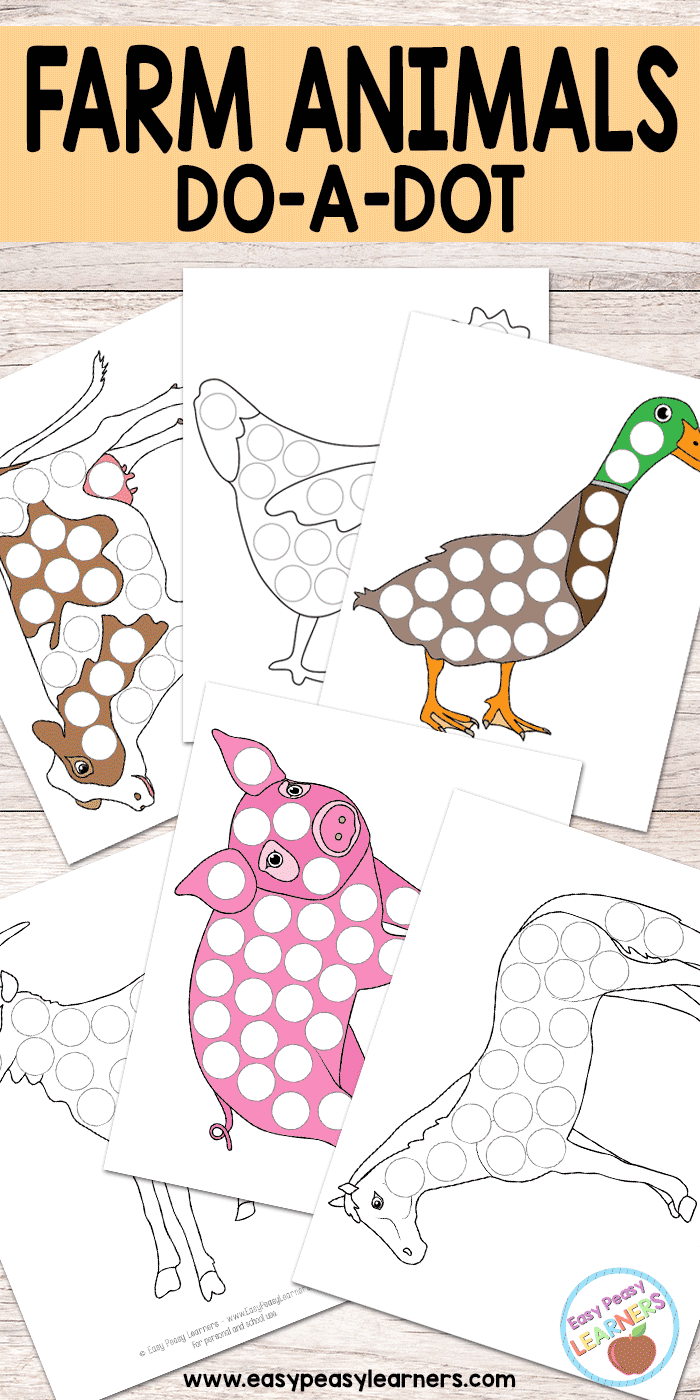 Farm Animals - Do a Dot Printables