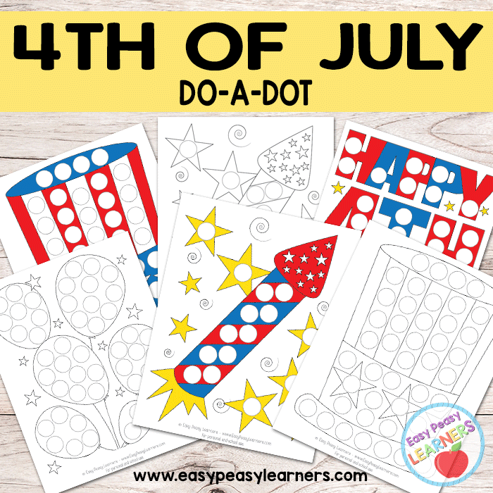 Free 4th of July Do a Dot Printables - Easy Peasy Learners