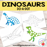 Free Dinosaurs Do a Dot Printables