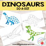 Free Dinosaurs Do a Dot Printables