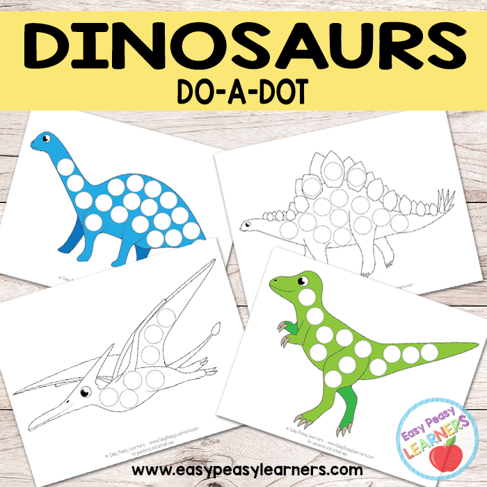 Free Dinosaur Do a Dot Printables