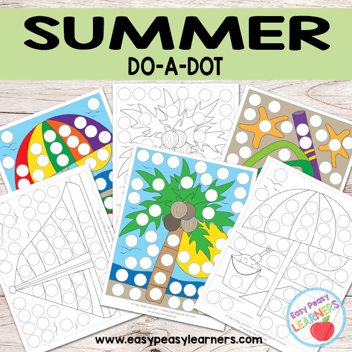 Free Summer - Do a Dot Printables