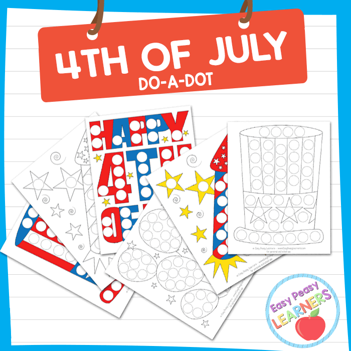 Lovely 4th of July Do a Dot Printables