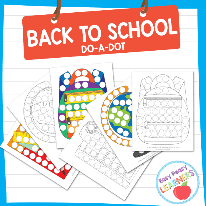 Lovely Back to School Do a Dot Printables