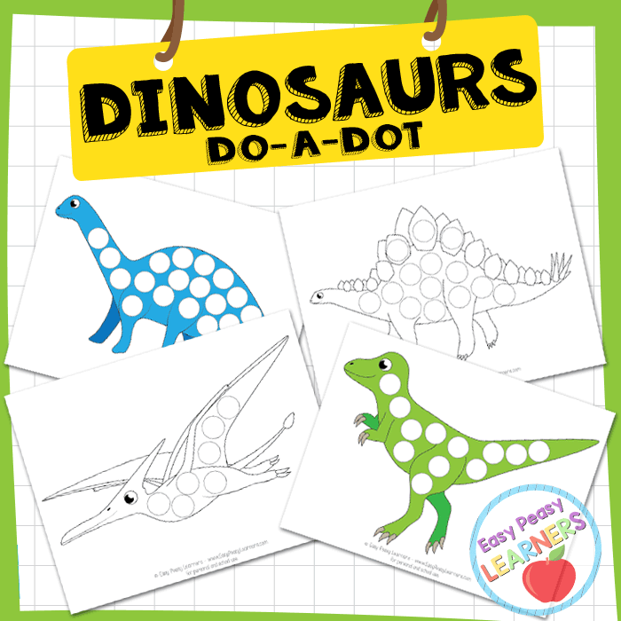 picture about Printable Dinosaur identify Totally free Dinosaurs Do a Dot Printables - Basic Peasy College students