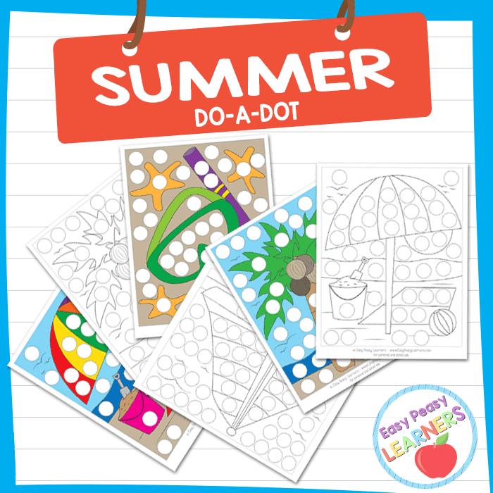 Lovely Summer Do a Dot Printables