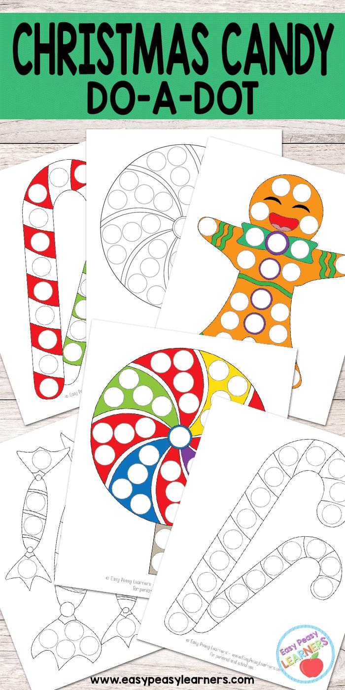 Christmas Candy - Do a Dot Printables