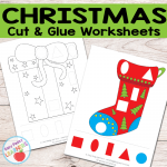 Free Christmas Cut and Glue Worksheets