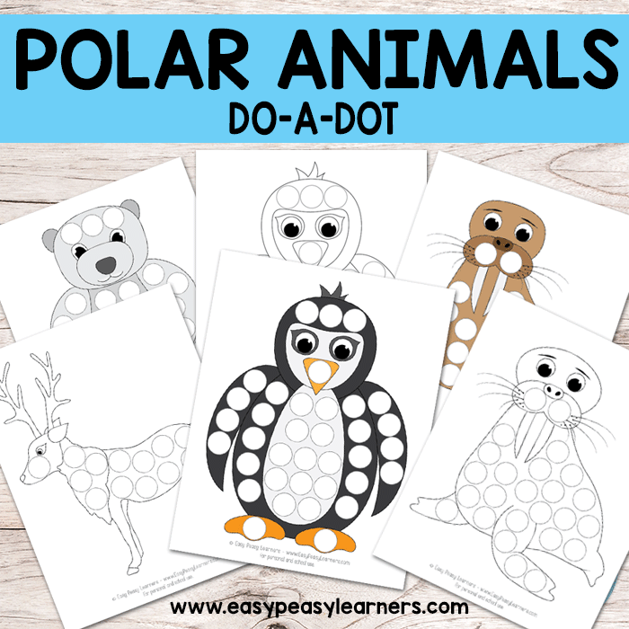 Free Polar Animals Do a Dot Printables