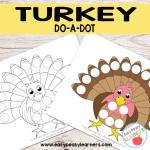 Free Turkey Do a Dot Printables
