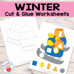 Free Winter Cut and Glue Worksheets