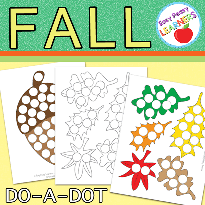 Lovely Fall Do a Dot Printables