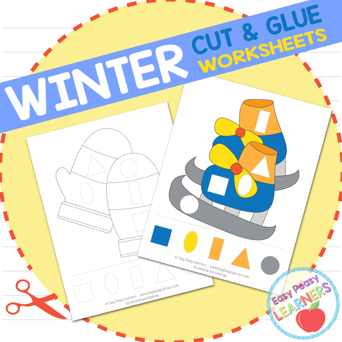 Lovely Winter Cut and Glue Worksheets