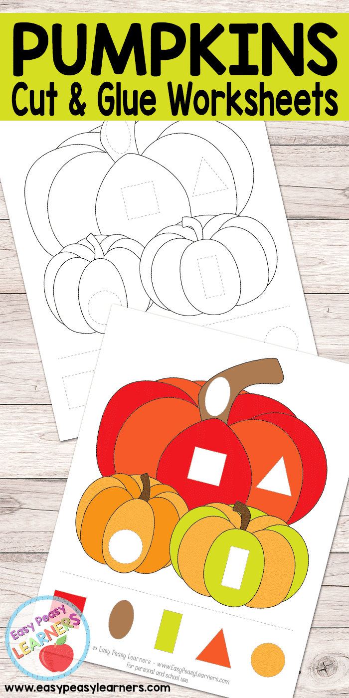 Pumpkins - Cut and Glue Worksheets