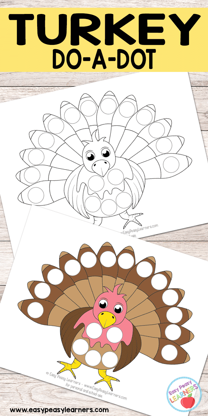 - Free Turkey Do A Dot Printables - Easy Peasy Learners