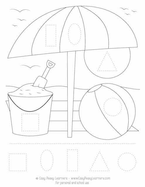 Free Summer Cut And Glue Worksheets - Easy Peasy Learners
