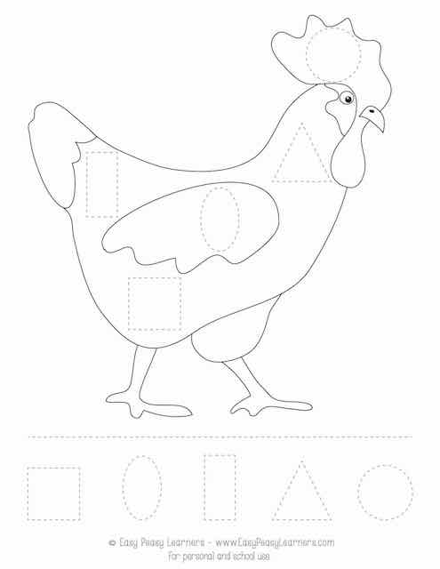 Free Farm Animals Cut And Glue Worksheets - Easy Peasy Learners