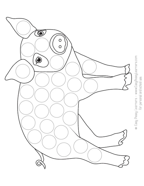 Free Farm Animals Do A Dot Printables - Easy Peasy Learners